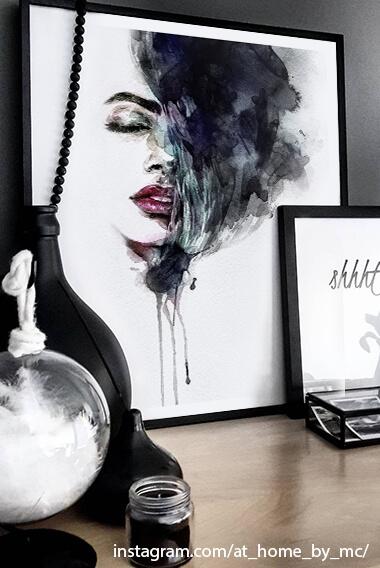 Poster-Set mit Bilderrahmen Stille (2er Set)