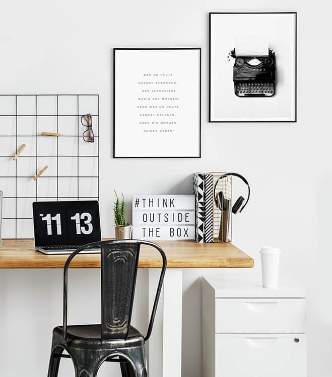 Poster-Set mit Bilderrahmen Was du heute kannst besorgen… (2er Set)