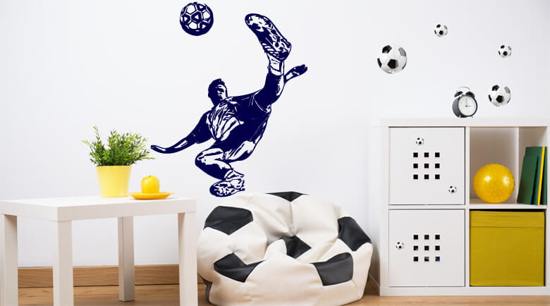 fussball wandtattoos f r kinderzimmer von. Black Bedroom Furniture Sets. Home Design Ideas