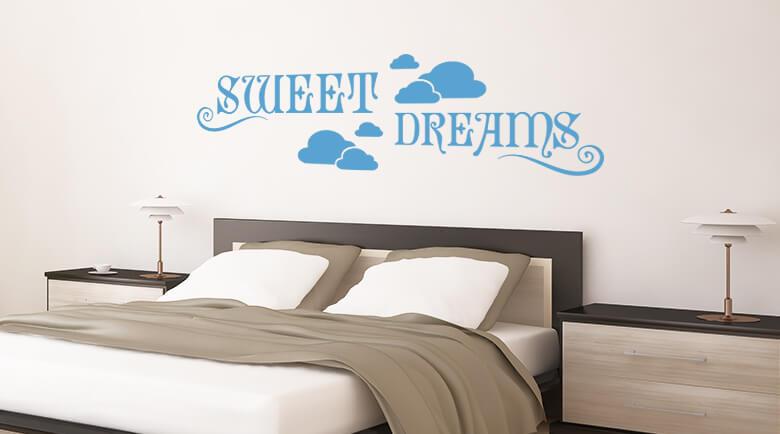 Schlafzimmer Wandtattoos und Sprüche von trenddeko.ch