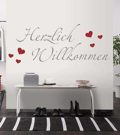 wandspr che zitate als wandtattoo bei. Black Bedroom Furniture Sets. Home Design Ideas