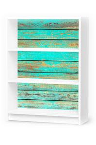 Designfolie Wooden Aqua (Billy 3 Fächer)