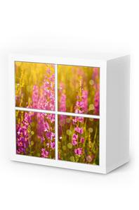 Möbelfolie Flower Meadow für Kallax 4 Türelemente