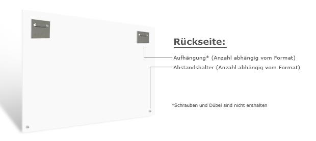 Materialbeschreibung Hartschaum Rückseite