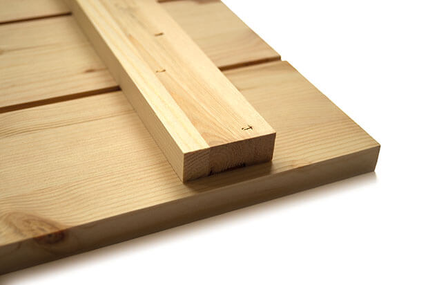 Materialbeschreibung Holzbild Rückseite