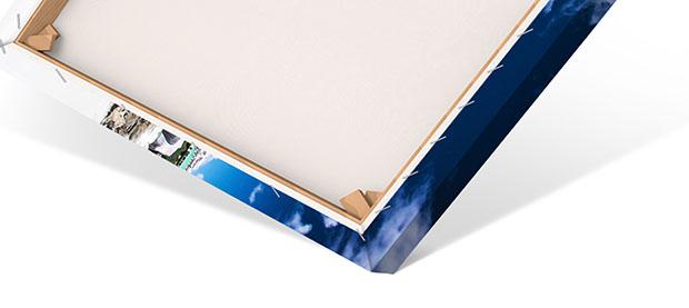 Materialbeschreibung Leinwandbild Rückseite