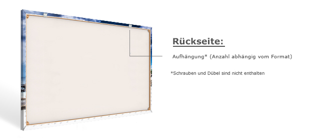 Materialbeschreibung Leinwandbild Rückseite